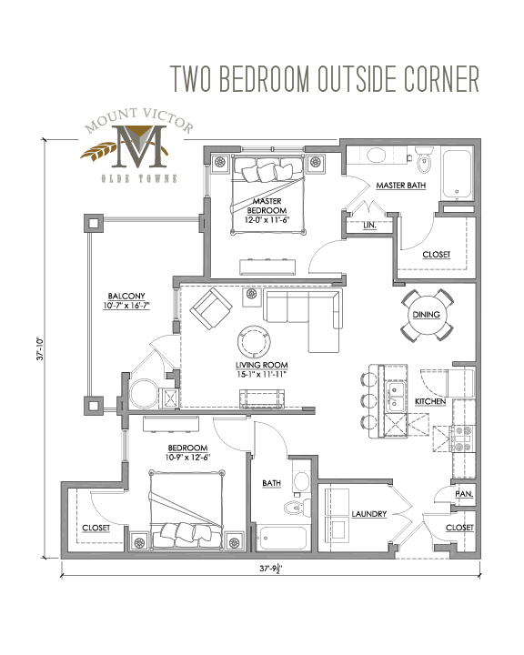 two bedroom outside corner
