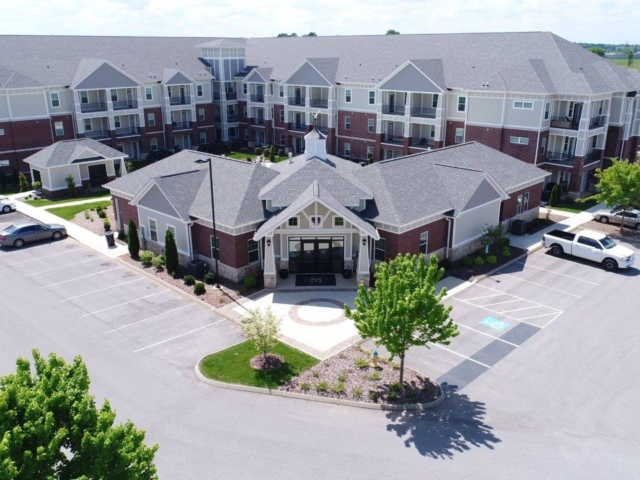 Mount Victor Olde Towne Apartments aerial view front 2017